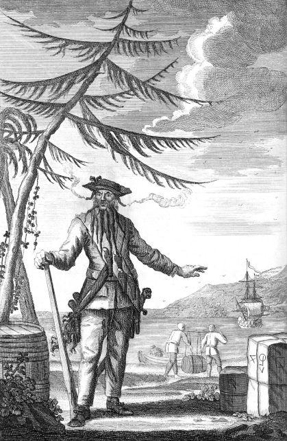 Blackbeard (c. 1736 engraving J.Basire)